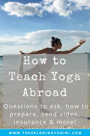 how to teach yoga abroad the