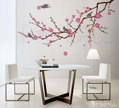 Tree Birds Flower Cherry Blossom Tree Branch Wall Decal Etsy