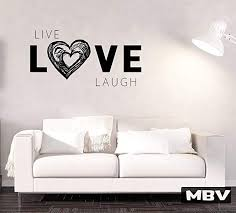 Amazon Com Live Love Laugh Wall Art Wall Decal Vinyl Sticker Wall Decor Wall Saying Wall Quote Vinyl Lettering Heart Decal Large Decal Made In Usa Kitchen Dining