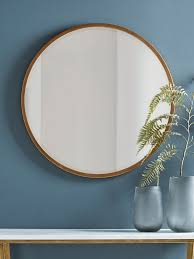 antique brass round mirror in 2020