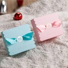 Compre 50x Encantadoras Cajas De Dulces Cumpleanos Rosa Azul Bebe