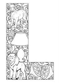 Letter L Kleurplaten Alfabet Kleurplaten Mandala Kleurplaten