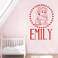 Personalized Name Baby In The Garden Wall Decal Sticker Nursery For Home Decor Krafmatics