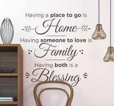 Blessing Living Room Wall Decor Tenstickers