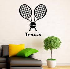 Tennis Sports Wall Decal Tennis Ball Wall Sticker Home Interior Design Art Removable Vinyl Tennis Wallpaper Boys Room Art Butterfly Wall Stickers Buy Decals From Joystickers 12 3 Dhgate Com