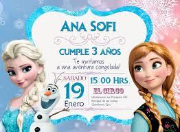 Frozen Bday Party Invitaciones Personalizadas Las Creamos A