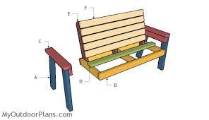 2x4 garden bench plans myoutdoorplans