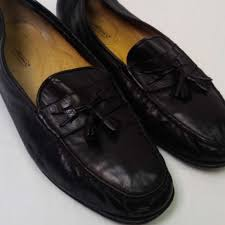 mens soft leather tassel loafers 14d