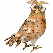 barn owl garden sculpture ornament