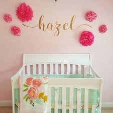 Take A Peek At This Adorable Decal We Created For A Customer To Add To Her Amazing Nursery Decor I Love Ev Nursery Decals Girl Name Wall Decals Nursery Decals