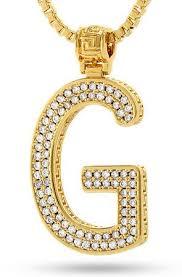 14k gold letter g necklace