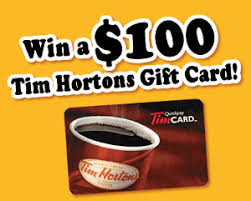 tim hortons 100 gift card survey giveaway