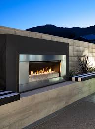 gas and wood outdoor fireplaces escea