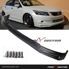 08 10 Honda Accord 4dr Sedan 4cyl Front Body Mugen Style Pu Bumper Lip Spoiler Kit