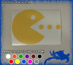 5 Pac Man Eating Vinyl Sticker Retro Video Game Car Window Decal Nes Arcade Ill Ebay