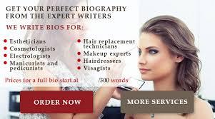 make up artist biography writing