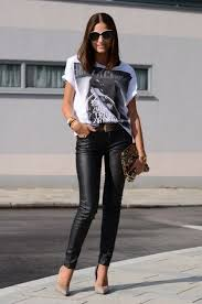 find out new leather pants outfit 2019