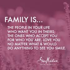 this is important to me because it is your family you should be