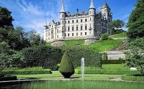 castles garden fountains wallpaper free