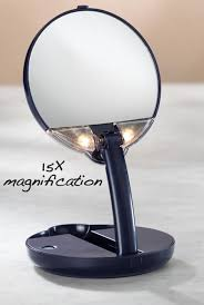 lighted travel makeup mirror compact