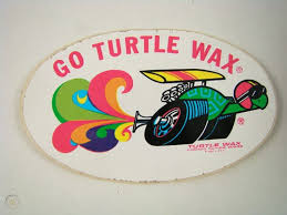 Vintage 1960s Turtle Wax Funny Car Decal Sticker Racing 45968447