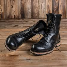 motorcycle boot vintage leather style 1966