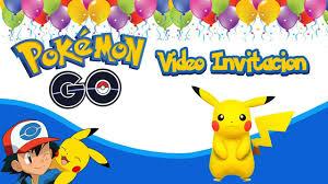 Pokemon Go Video Invitacion Animada Ash Y Pikachu Youtube