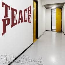 Teach Peace Wall Decal Sticker Teach Peace Large Wall Decals Wall Decal Sticker