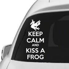 Keep Calm And Kiss A Frog Vinyl Wall Decal Car Sticker Walls2lifedecals