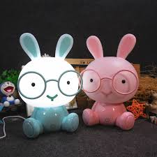 Modern Cartoon Table Lamp Kids Room Bedside Lamp Glasses Rabbit Led Usb Table Light Christmas Gift Touch Switch Decor Luminaire Led Table Lamps Aliexpress