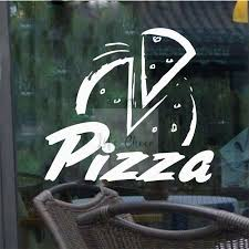 Best Deal 11fa1 Pizza Logo Window Vinyl Sticker Pizza Shop Decoration Creative Pizzeria Vinyl Wall Decals Removable Restaurant Murals Ac095 Cicig Co