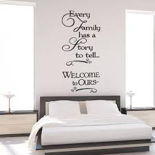 Aya Welcome To Ours Wall Stickers Every Family Has A Story Quotes Wall Ellaseal