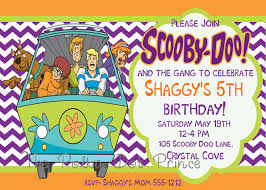 Scooby Doo Birthday Invitation Customized Diy Or Printed 10 00