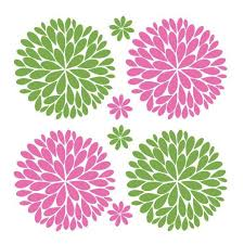 Big Bold Fun Dahlia Flowers Vinyl Decal Flower Wall Decals Silhouette Cameo Vinyl Flower Outline