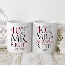 40th wedding anniversary gifts