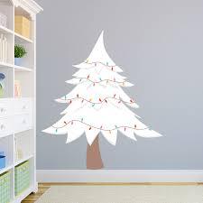 White Christmas Tree Wall Decal Christmas Tree Wall Sticker
