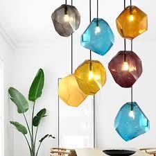 modern glass pendant light crystal