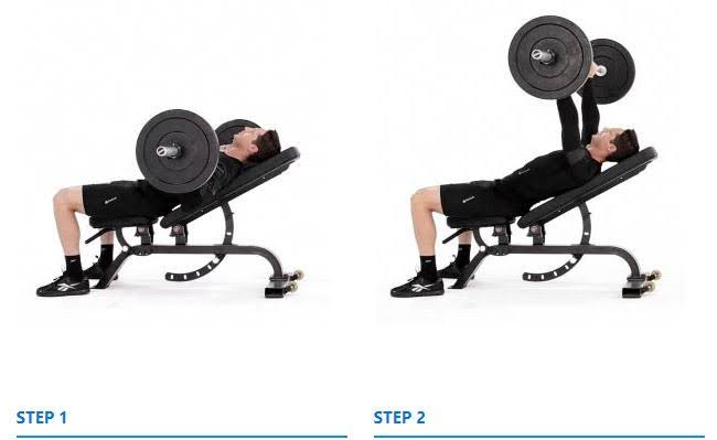 """Image result for Incline Barbell Bench Press"""""""