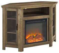 corner fireplace media tv stand console