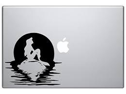 Ariel The Little Mermaid On Rock Full Moon 6 Vinyl Car Truck Decal Sticker Disney Kids Fun Cute Girly Adorable Awesome Movies Mermaids Pretty Black 6 Inches Baby B077j68j4w