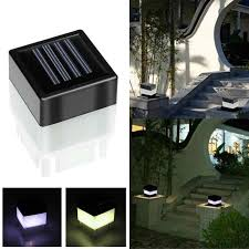 Solar Led Lamp Square Waterproof Solar Powered Light Pathway Christmas Decor Park Fence Post Pool Garden Lights Yard Solar Lamps Aliexpress