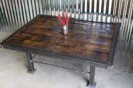 pallet wood ironwork coffee table