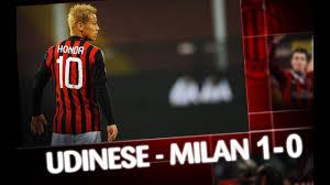 AC Milan   Udinese-Milan 1-0 Highlights - YouTube
