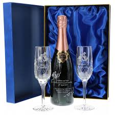 gift boxed bollinger rose chagne and