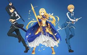 kawaii sword gold armor anime