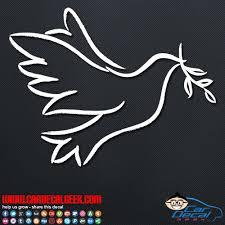 Peace Love Dove Outline Vinyl Window Decal Sticker