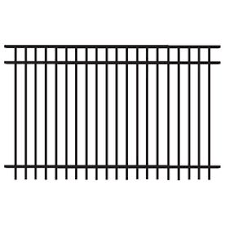 Freedom Common 5 Ft X 8 Ft Actual 4 91 Ft X 7 89 Ft Heavy Duty New Haven Black Aluminum Decorative Fence Pa Metal Fence Panels Fence Panels Aluminum Fence