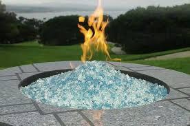 glass fireplace fire pit rocks