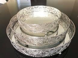 mirror tray round shape serving