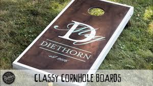How To Build A Set Of Classy Custom Cornhole Boards Youtube